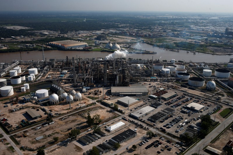 FILE PHOTO: An aerial view of the Valero Houston Refinery is seen in Houston, Texas