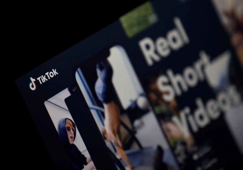 FILE PHOTO: The logo of TikTok application is seen in this picture illustration