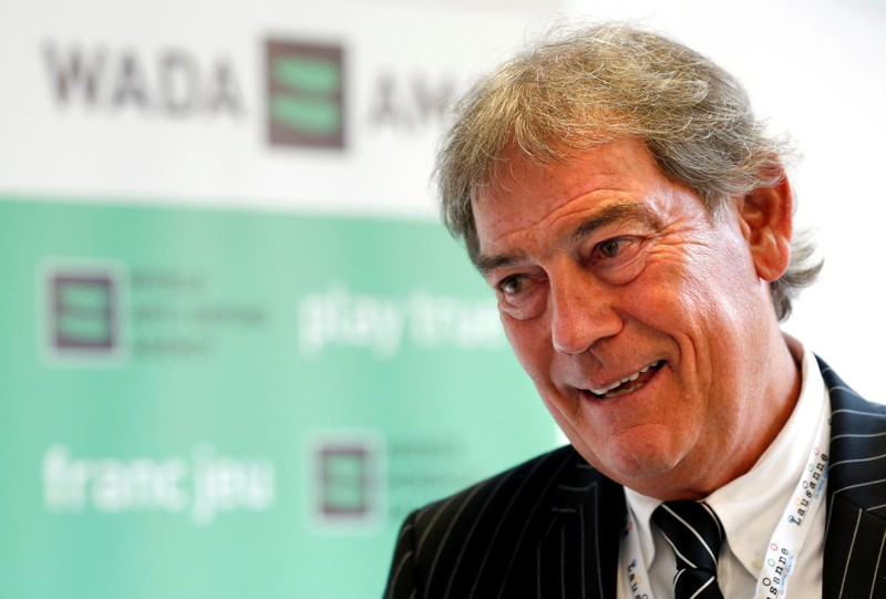 Director General of the World Anti-Doping Agency Howman talks to reporters at the WADA symposium in Lausanne