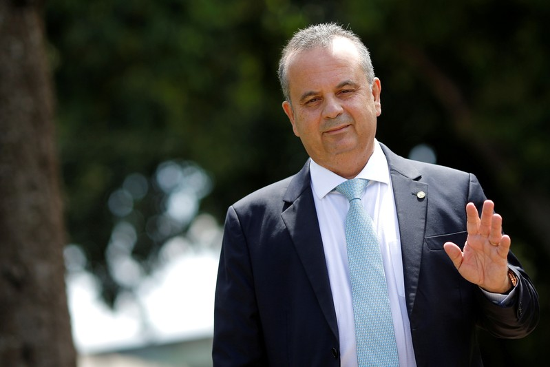 FILE PHOTO: Brazil's Secretary of Social Security Rogerio Marinho is seen as he leaves the Ministry of Economy building in Brasilia