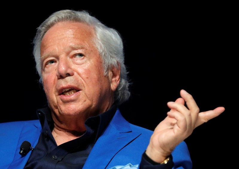 New England Patriots owner Robert Kraft attends a conference at the Cannes Lions Festival in Cannes