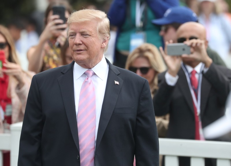 U.S. President Trump attends the 2019 White House Easter Egg Roll in Washington