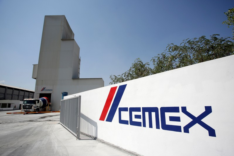 A cement plant of Mexican cement maker CEMEX is pictured in Monterrey