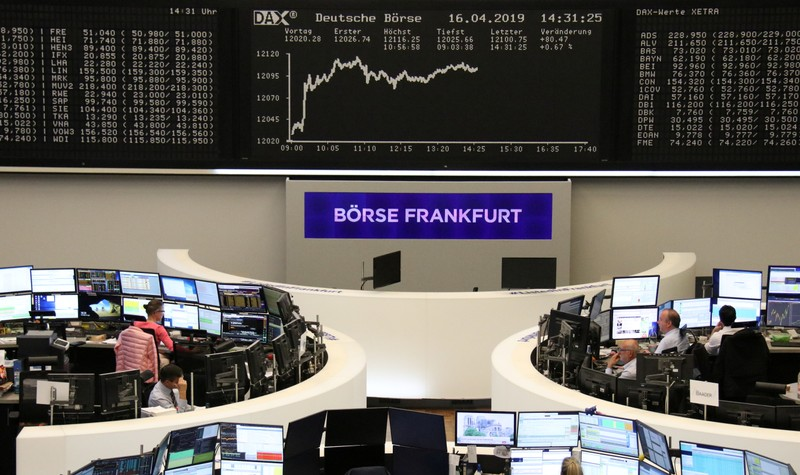 FILE PHOTO: The German share price index DAX graph at the stock exchange in Frankfurt