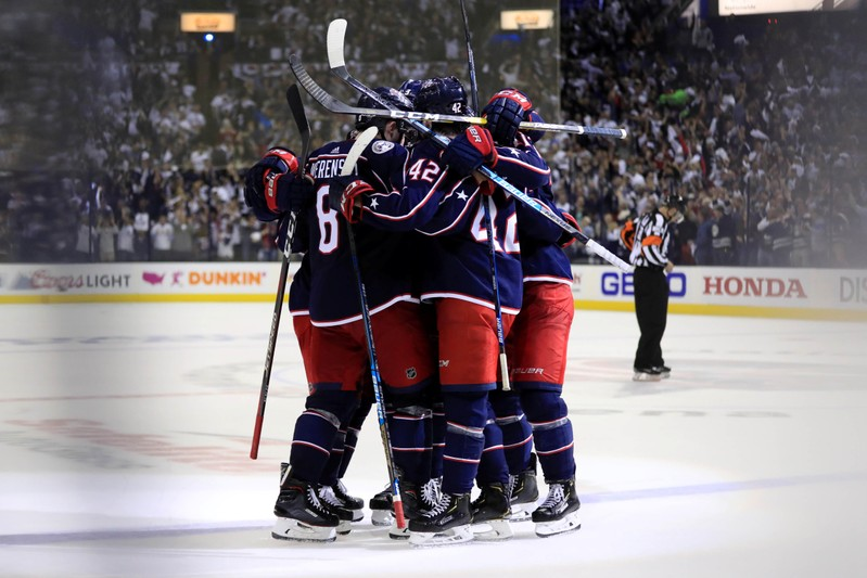 Coyle scores OT winner as Bruins beat Blue Jackets in Game 1