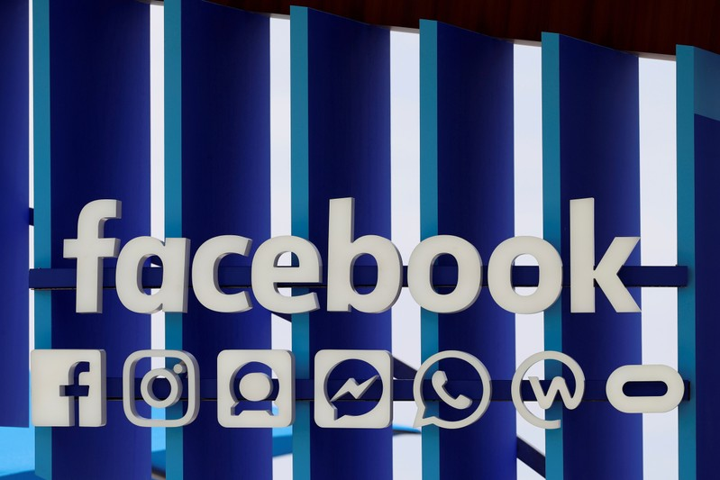 FILE PHOTO: A Facebook panel is seen during the Cannes Lions International Festival of Creativity, in Cannes