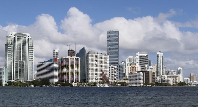 The downtown skyline of Miami, Florida