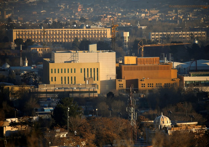FILE PHOTO: View of the U.S. Embassy in Kabul