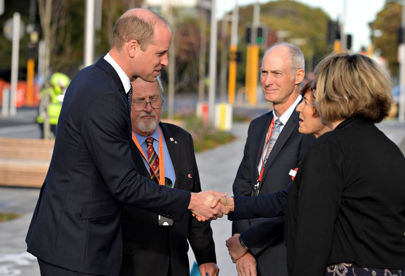 Britain's Prince William visits Christchurch, New Zealand