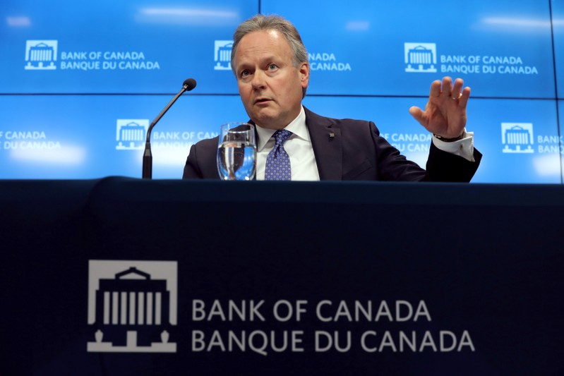 FILE PHOTO: FILE PHOTO: Bank of Canada Governor Stephen Poloz speaks during a news conference in Ottawa