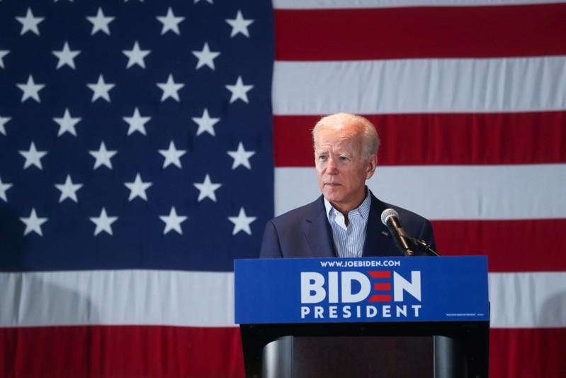 Democratic U.S. presidential candidate and former Vice President Biden campaigns in Cedar Rapids, Iowa