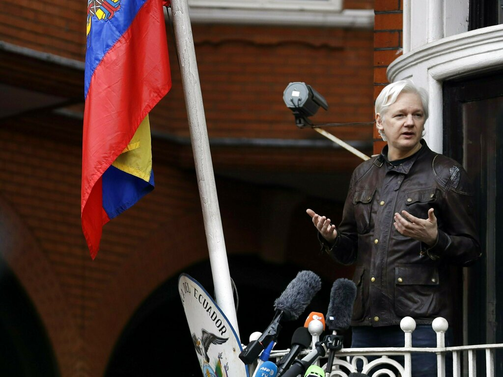 Julian Assange, WikiLeaks founder, to reportedly be expelled from Ecuadorian embassy