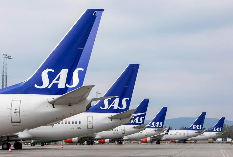 SAS pilots strike at Oslo Airport in Gardermoen