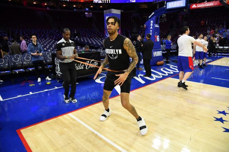 hot sale online e8ecf 403ba NBA  Playoffs-Brooklyn Nets at Philadelphia 76ers