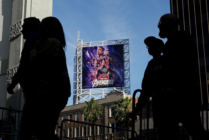FILE PHOTO - Avengers fans arrive at the TCL Chinese Theatre in Hollywood to attend the opening screening of