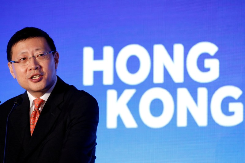 FILE PHOTO: Sequoia Capital China founder Neil Shen speaks at an event of tech incubator Hong Kong X in Hong Kong