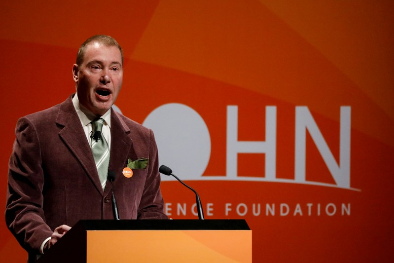 FILE PHOTO: Jeffrey Gundlach, CEO of DoubleLine Capital LP, presents during the 2018 Sohn Investment Conference in New York