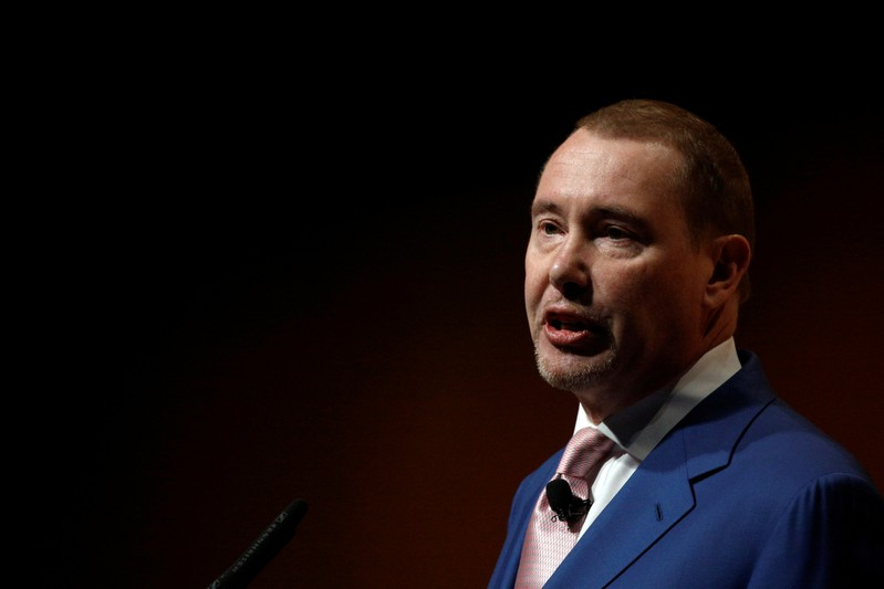 FILE PHOTO: Jeffrey Gundlach, Chief Executive Officer, DoubleLine Capital, speaks at the Sohn Investment Conference in New York
