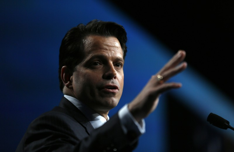 FILE PHOTO: Anthony Scaramucci, managing partner of Skybridge Capital, speaks at the SALT conference in Las Vegas
