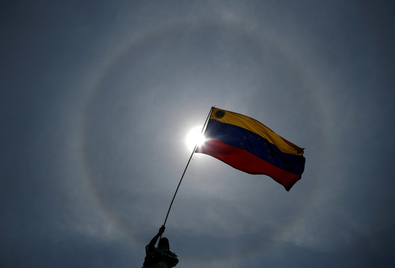 FILE PHOTO: Rally against the government of Venezuela's President Maduro and to commemorate May Day in Caracas