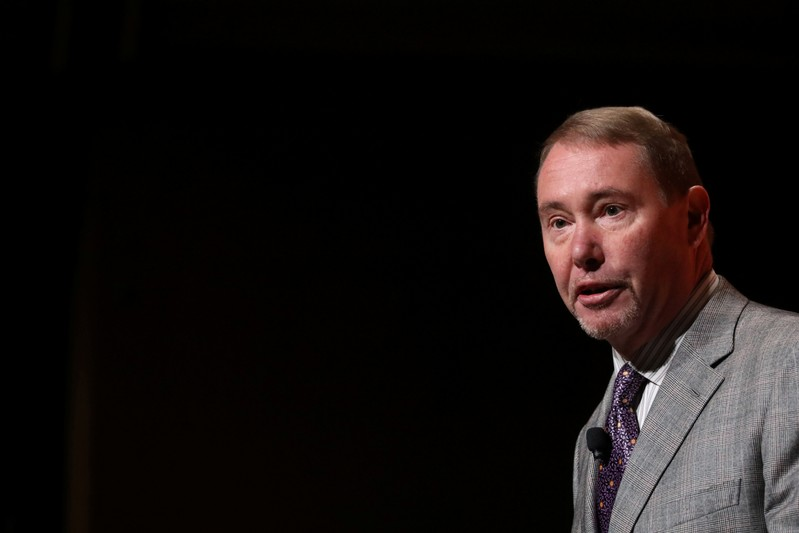 FILE PHOTO: Jeffrey Gundlach, CEO of DoubleLine Capital LP, presents during the 2019 Sohn Investment Conference in New York
