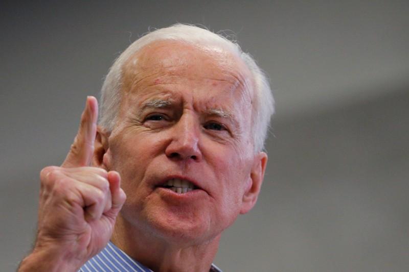 FILE PHOTO: Democratic 2020 U.S. presidential candidate Biden speaks in Manchester