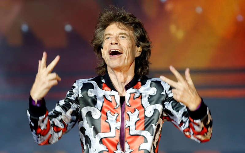 Mick Jagger of the Rolling Stones performs during a concert of their
