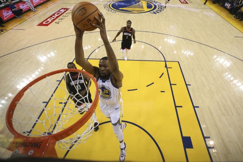 FILE PHOTO: NBA: Playoffs-Houston Rockets at Golden State Warriors