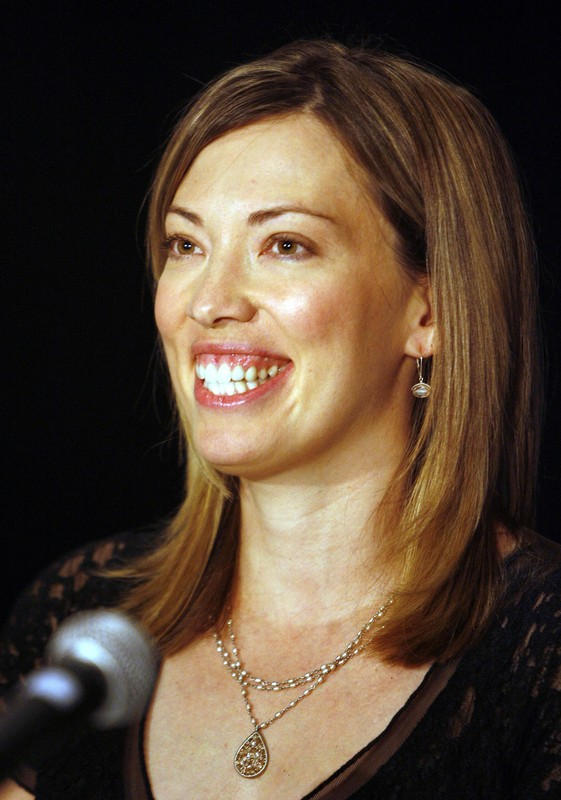 Cross-country skier Beckie Scott smiles during a news conference for Canada's Sports Hall of Fame inductees in Toronto