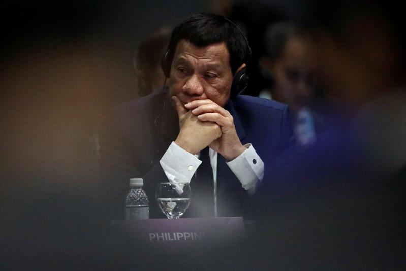 FILE PHOTO:  Philippines' President Duterte attends the ASEAN Plus Three Summit in Singapore