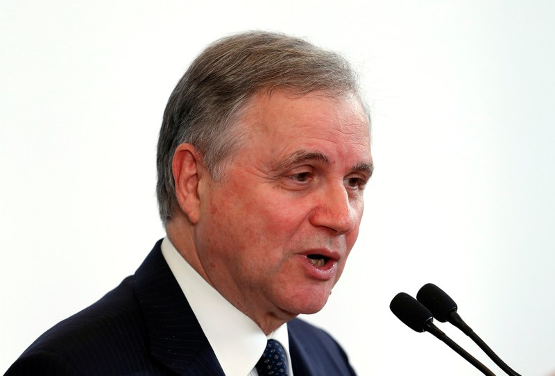 Bank of Italy Governor Ignazio Visco speaks during a meeting in Rome