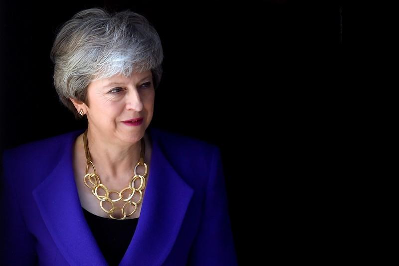 British PM May hosts Iceland's PM Jakobsdottir at Downing Street
