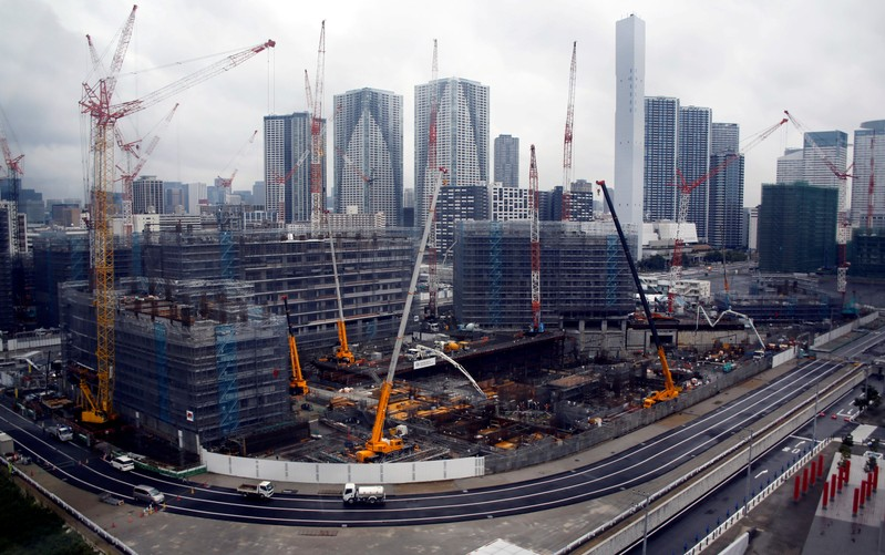 FILE PHOTO: General view of the construction site of the Athletes' Village for the Tokyo 2020 Olympic Games in Tokyo