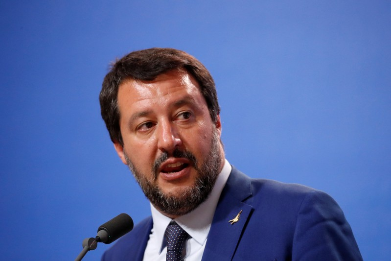 Italian Deputy PM Salvini and Hungarian PM Orban hold a joint news conference in Budapest