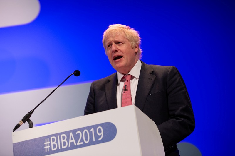 Boris Johnson at the 2019 British Insurance Brokers' Association (BIBA) conference in Manchester