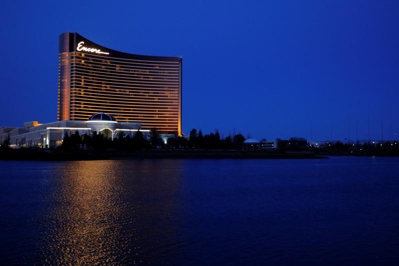 FILE PHOTO: The Encore Casino, built by Wynn Resortsin Everett, Massachusetts