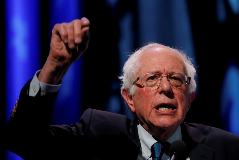 FILE PHOTO: U.S. 2020 Democratic presidential candidate and Senator Bernie Sanders participates in a moderated discussion at the We the People Summit in Washington