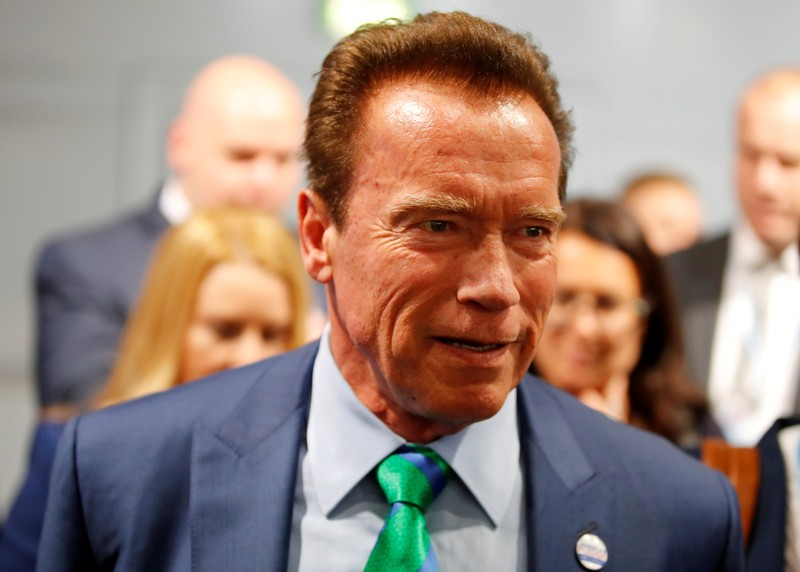 FILE PHOTO: Former California governor and 'Mr. Universe' Arnold Schwarzenegger attends the COP23 UN Climate Change Conference 2017, hosted by Fiji but held in Bonn