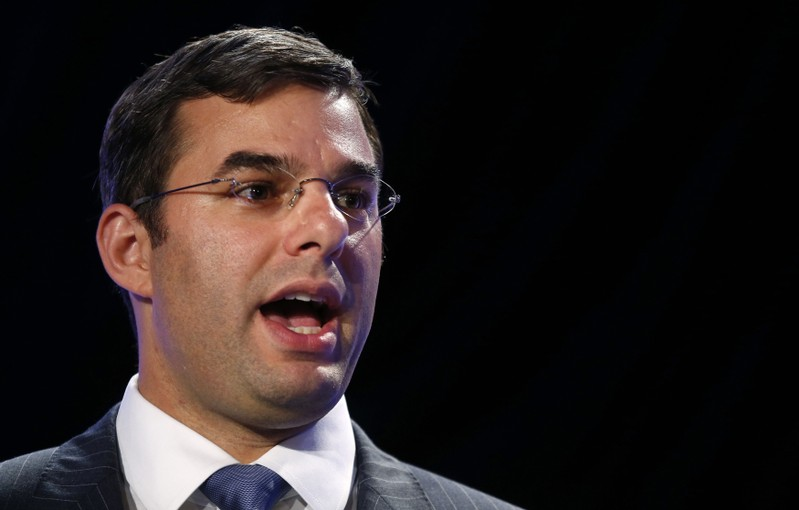 Justin Amash speaks at the LPAC conference in Chantilly, Virginia