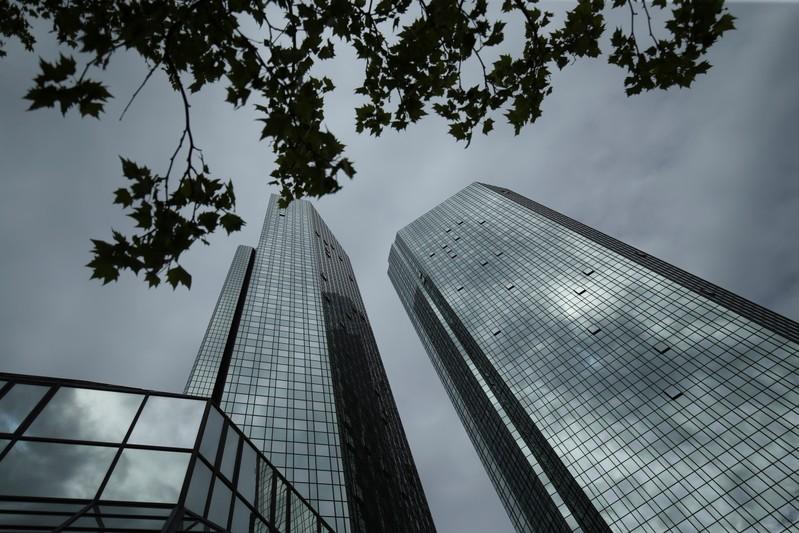 The Deutsche Bank headquarters are pictured in Frankfurt