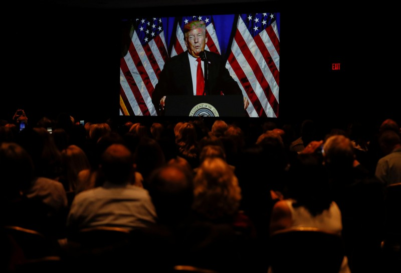FILE PHOTO - U.S. President Trump speaks at the National Association of Realtors' Legislative Meetings & Trade Expo in Washington
