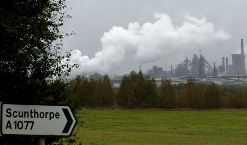 File photo of the Tata Steel plant in Scunthorpe