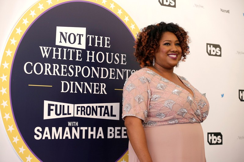 FILE PHOTO: Ashley Nicole Black arrives for the Not the White House Correspondents' Dinner in Washington