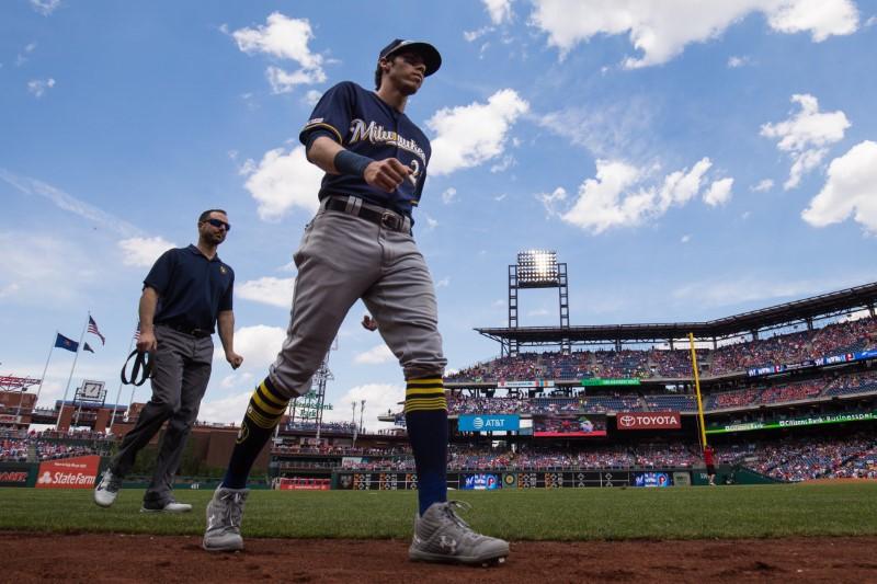 FILE PHOTO: MLB: Milwaukee Brewers at Philadelphia Phillies