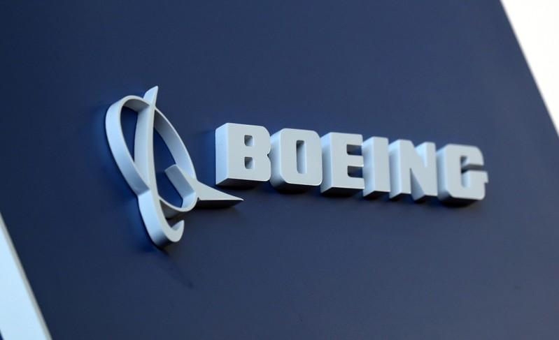 FILE PHOTO: Boeing logo LABACE in Sao Paulo