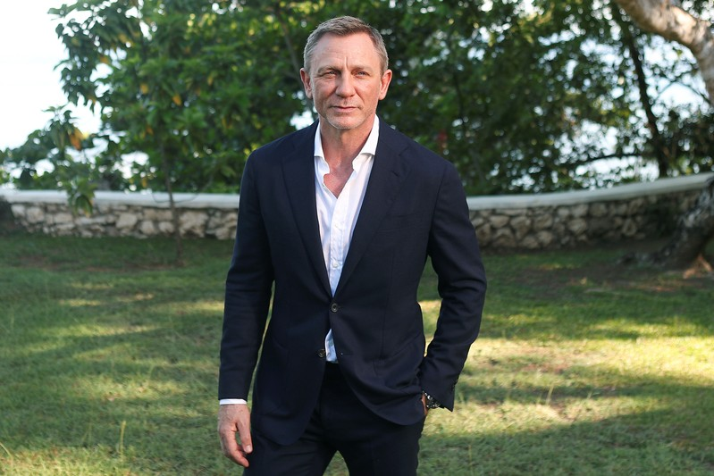 Actor Daniel Craig poses for a picture during a photocall for the British spy franchise's 25th film set for release next year, titled
