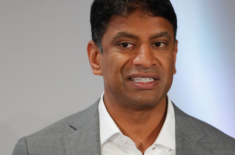 FILE PHOTO: CEO Narasimhan of Swiss drugmaker Novartis addresses the company's annual news conference in Basel
