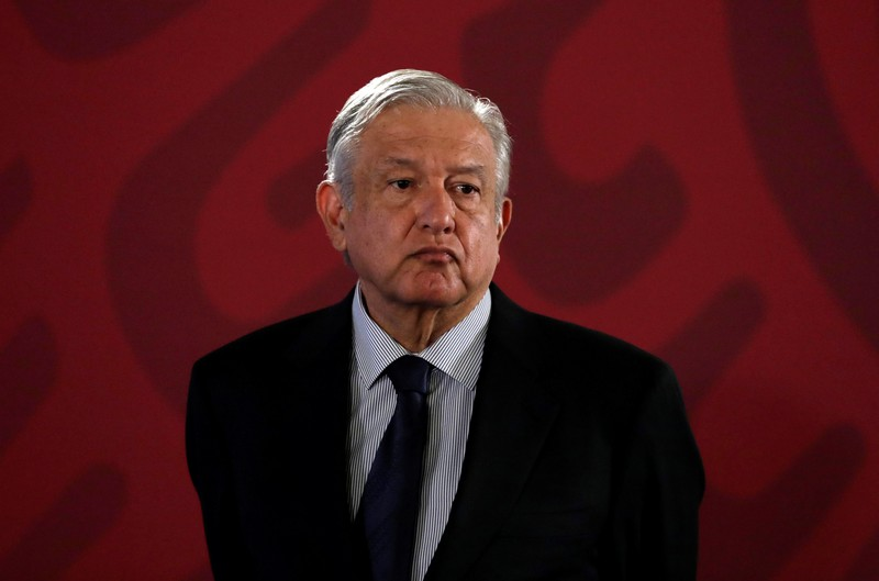 Mexico's President Andres Manuel Lopez Obrador attends a news conference, in Mexico City