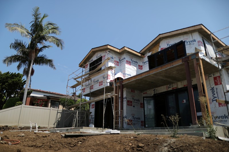 FILE PHOTO: A new apartment building housing construction site is seen in Los Angeles