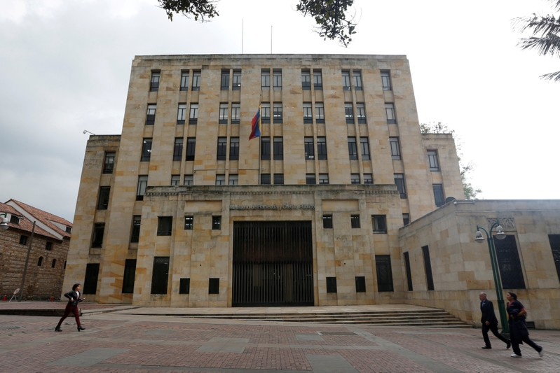 FILE PHOTO: Colombian Ministry of Finance and Public Credit building in Bogota